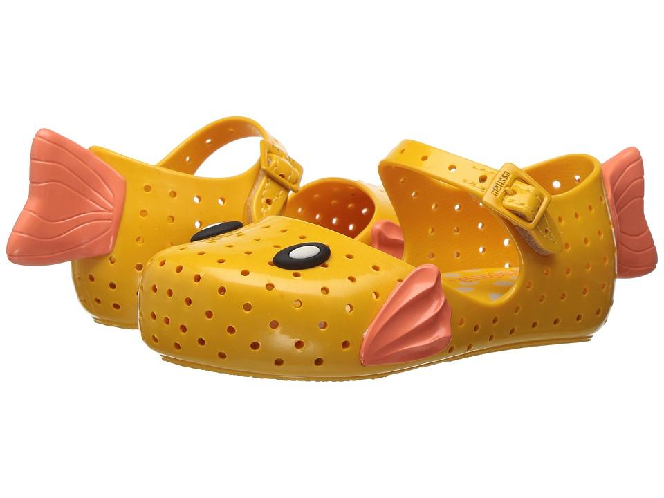 Mini Melissa - Mini Furadinha + Fabula (Toddler/Little Kid) (Yellow/Orange) Girl's Shoes