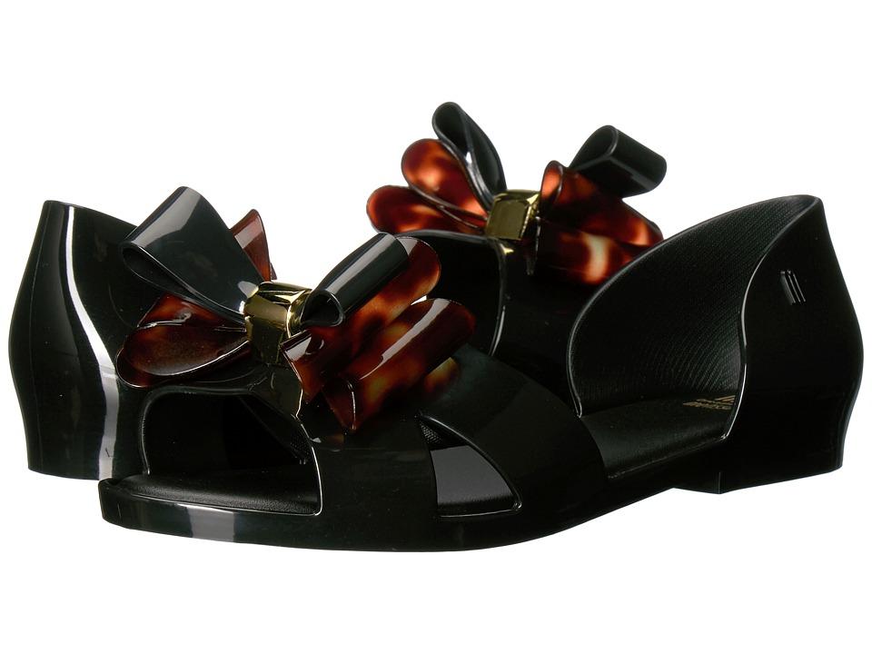 Mini Melissa - Mel Sedu II (Little Kid/Big Kid) (Black/Tortoise) Girl's Shoes