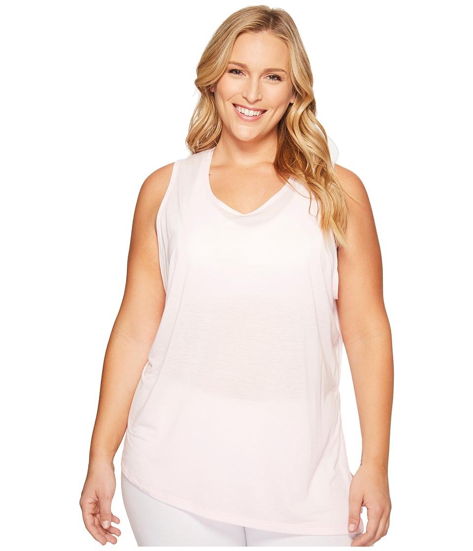 Nike - Breathe Sleeveless Training Top (Size 1X-3X) (Prism Pink/White) Women's Sleeveless