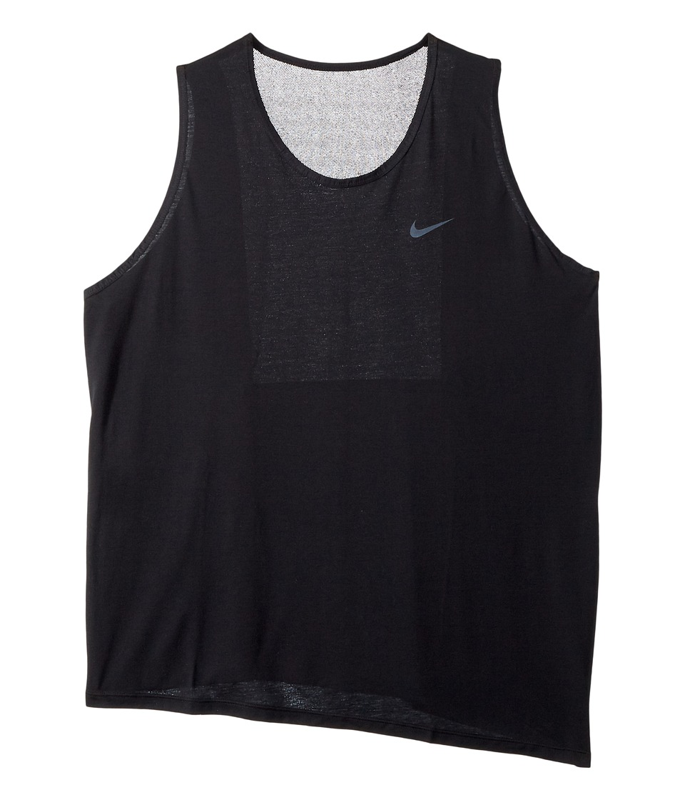 Nike - Breathe Sleeveless Training Top (Size 1X-3X) (Black/White) Women's Sleeveless