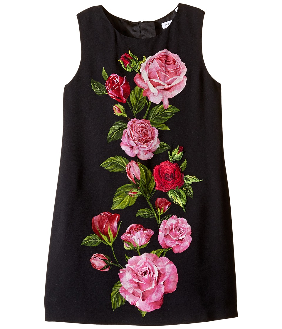 Dolce & Gabbana Kids - Rose Cadi Sleeveless Dress (Toddler/Little Kids) (Rose Print) Girl's Dress