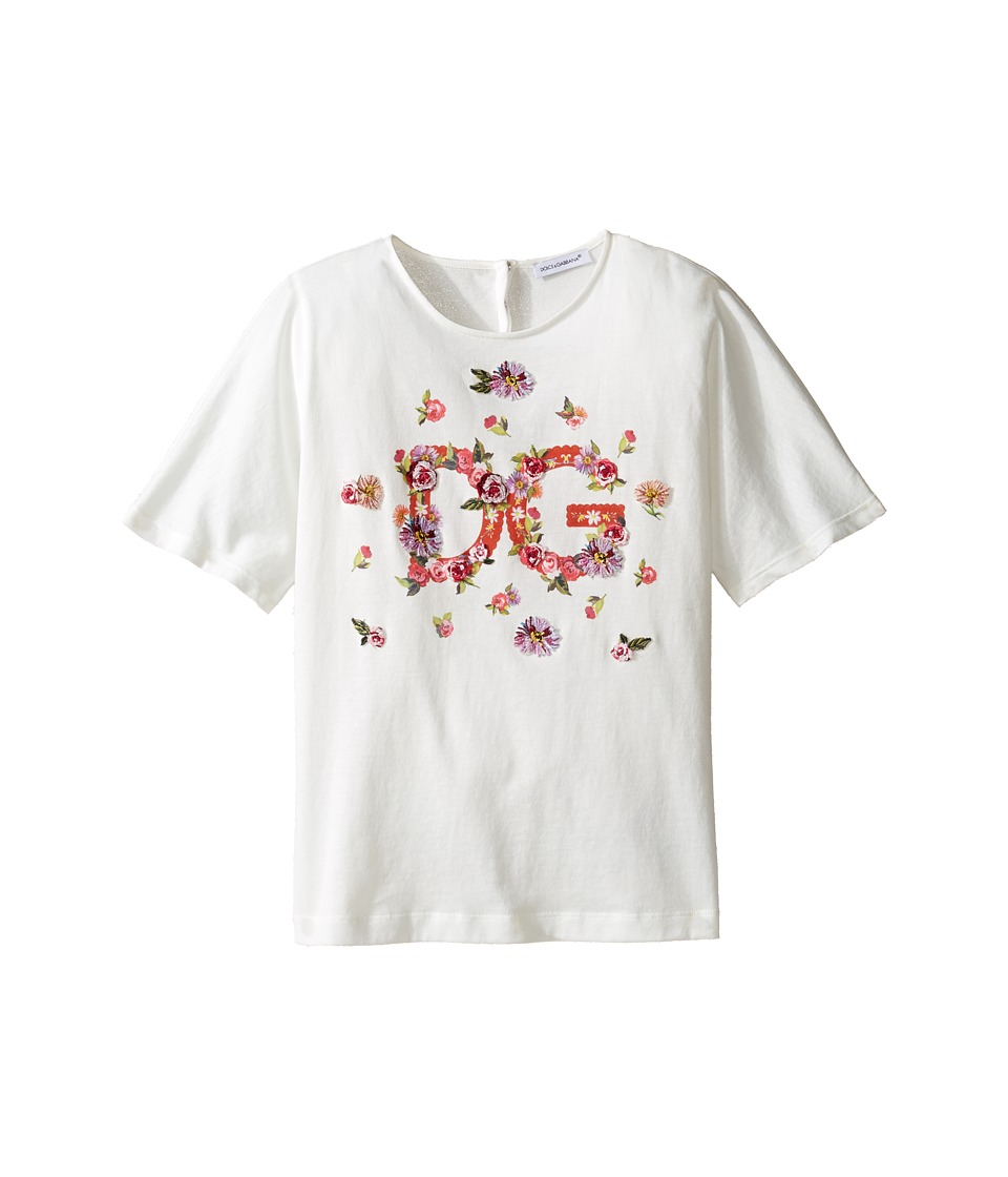 Dolce & Gabbana Kids - Mambo Logo T-Shirt (Big Kids) (Carretto Print) Girl's T Shirt