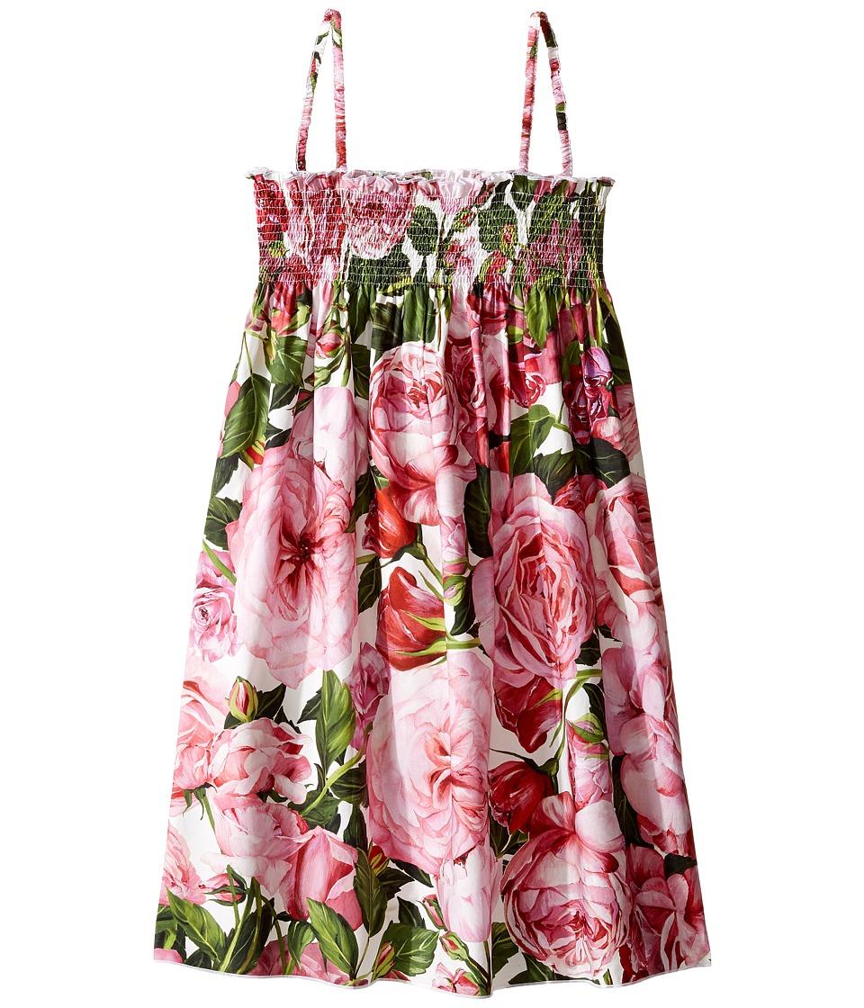 Dolce & Gabbana Kids - Cover-Up Dress (Big Kids) (Rose Print) Girl's Dress