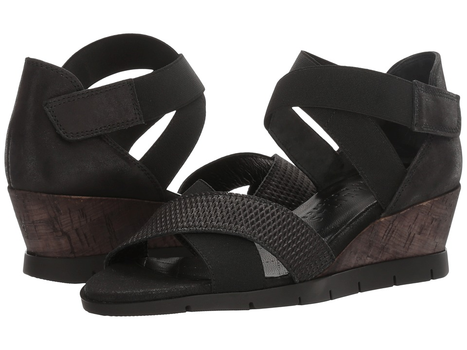 Hispanitas - Muriel (Luxor Black/Magic Black) Women's Wedge Shoes
