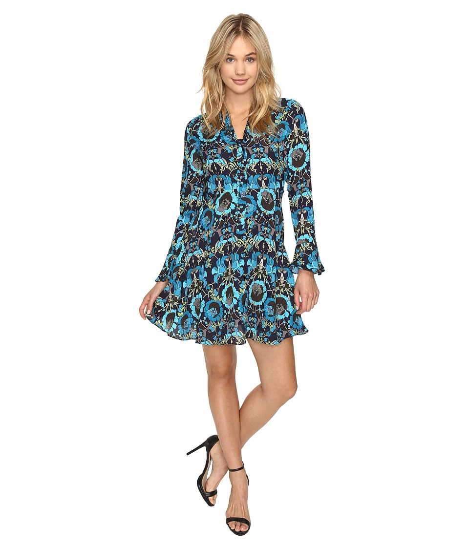 ROMEO & JULIET COUTURE - Print Dress (Teal) Women's Dress