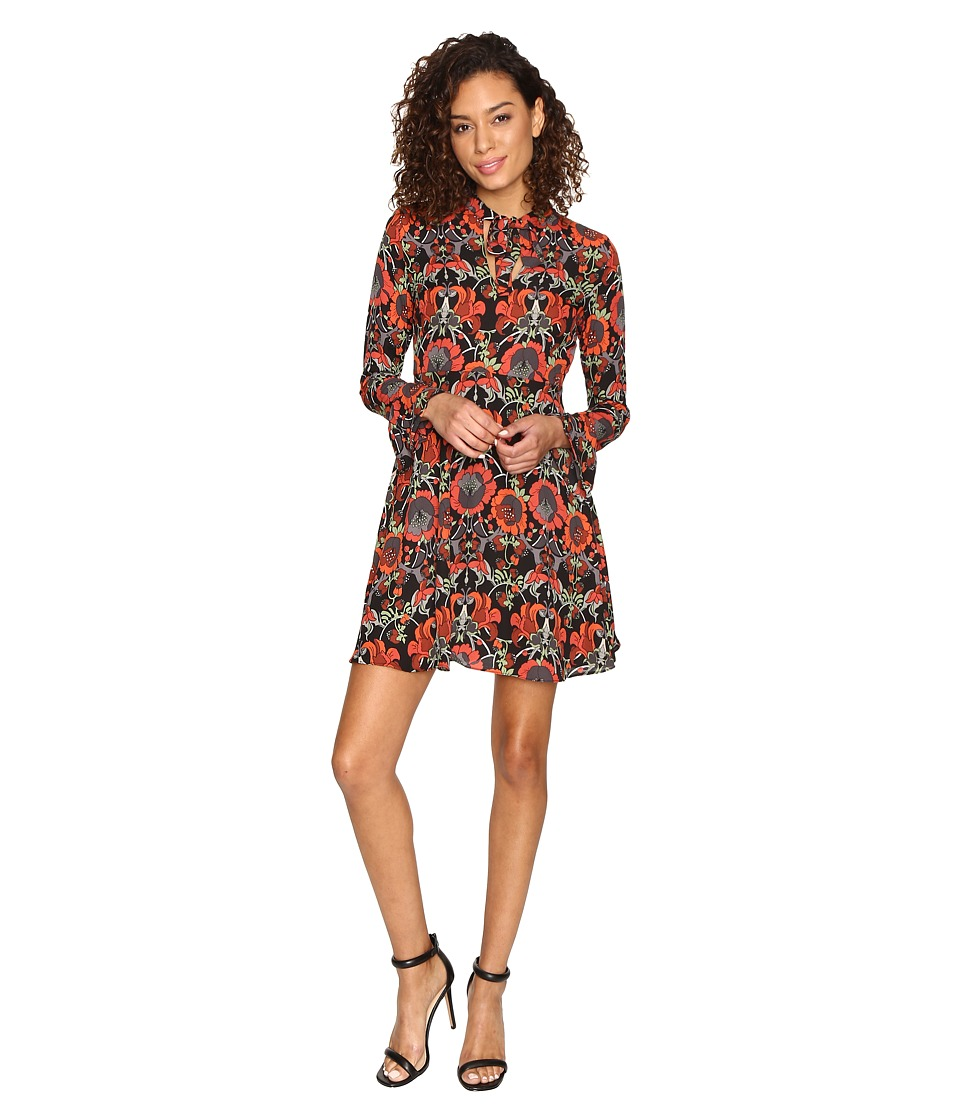 ROMEO & JULIET COUTURE - Print Dress (Rust) Women's Dress