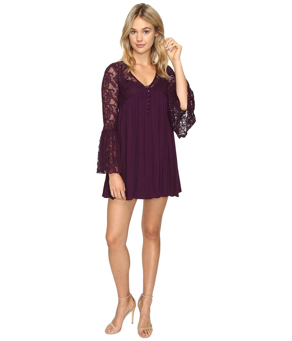 ROMEO & JULIET COUTURE Pleated Dress (Purple) Women