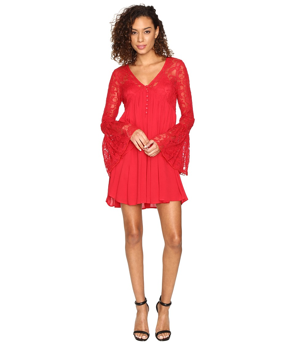 ROMEO & JULIET COUTURE Pleated Dress (Red) Women