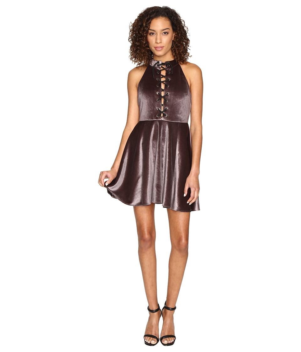 ROMEO & JULIET COUTURE - Lace-Up Dress (Dusty Purple) Women's Dress