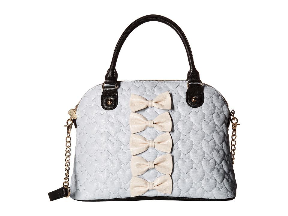 Betsey Johnson - Chic Dome Bow Satchel (Blue) Satchel Handbags