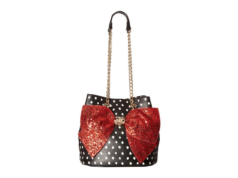 Betsey Johnson - Bow-Lesque Drawstring (Dot) Drawstring Handbags