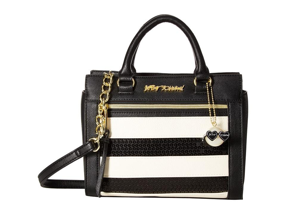 Betsey Johnson - Sequin Satchel (Stripe) Satchel Handbags