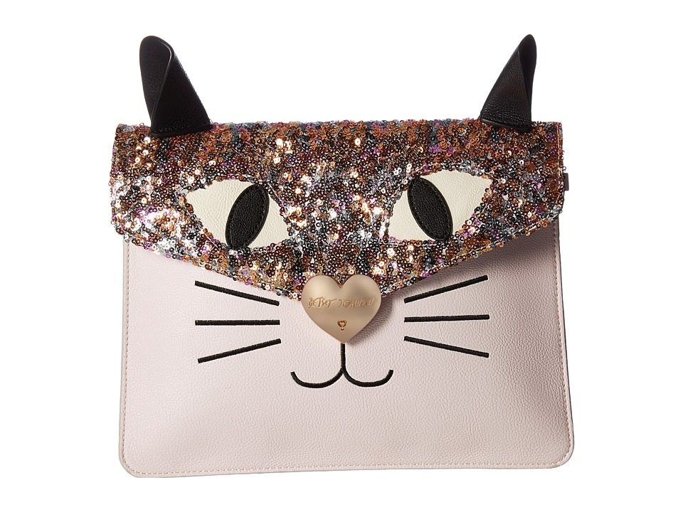 Betsey Johnson - Cat Clutch (Blush) Clutch Handbags