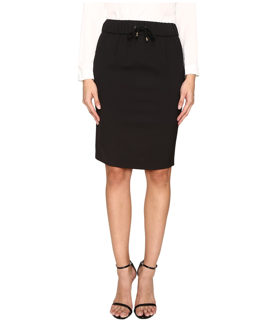 Boutique Moschino - Sporty Pencil Skirt (Black) Women's Skirt