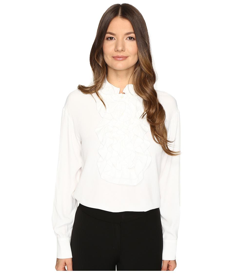 Boutique Moschino - Ruffle Blouse (Cream) Women's Blouse