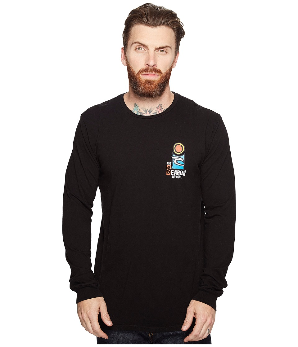 Rip Curl - The Search Heritage Long Sleeve (Black) Men's Long Sleeve Pullover