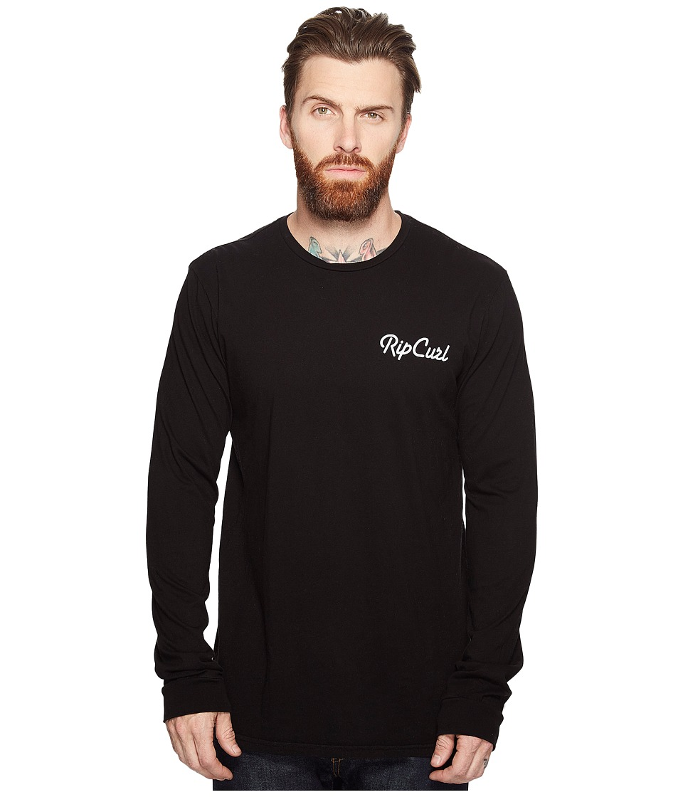 Rip Curl - Quantum Heritage Long Sleeve (Black) Men's Long Sleeve Pullover