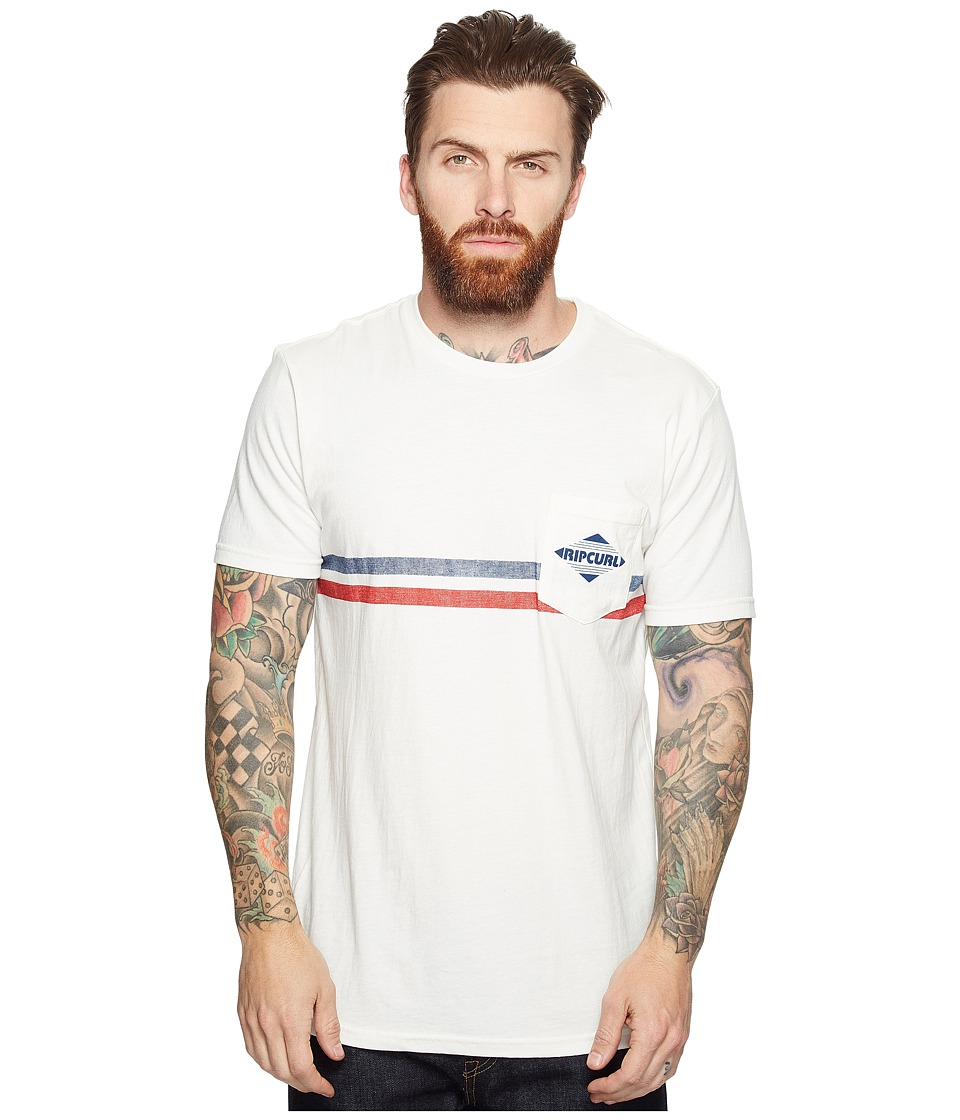Rip Curl - Crossed Pocket Custom Tee (Off-White) Men's T Shirt