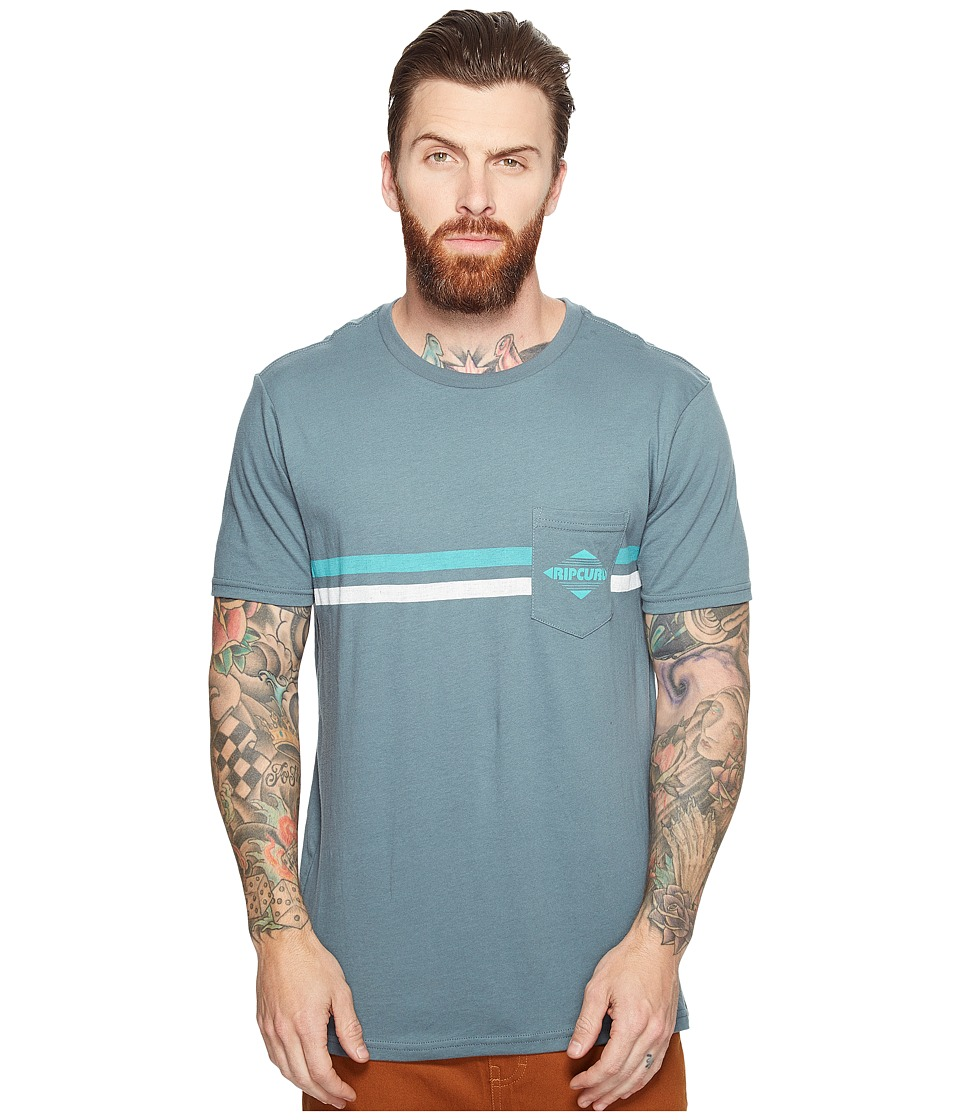 Rip Curl - Crossed Pocket Custom Tee (Teal) Men's T Shirt