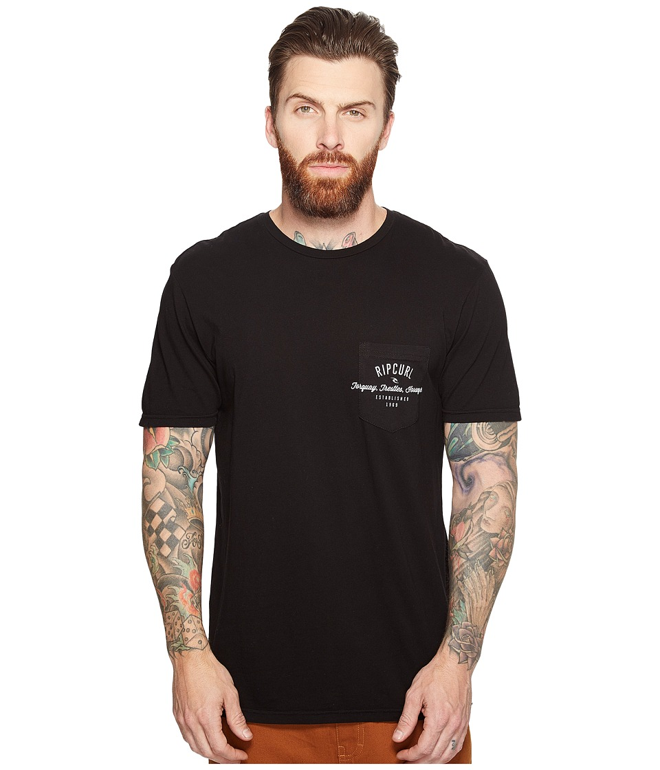 Rip Curl - Over Ride Pocket Custom Tee (Black) Men's T Shirt