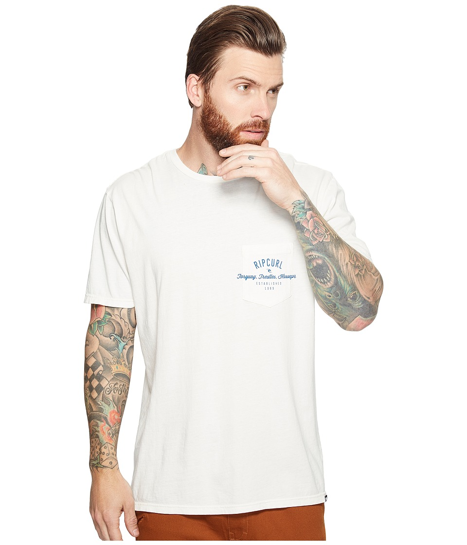 Rip Curl - Over Ride Pocket Custom Tee (Off-White) Men's T Shirt