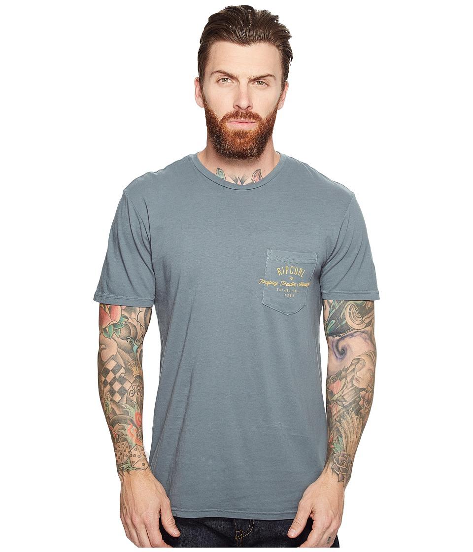Rip Curl - Over Ride Pocket Custom Tee (Teal) Men's T Shirt