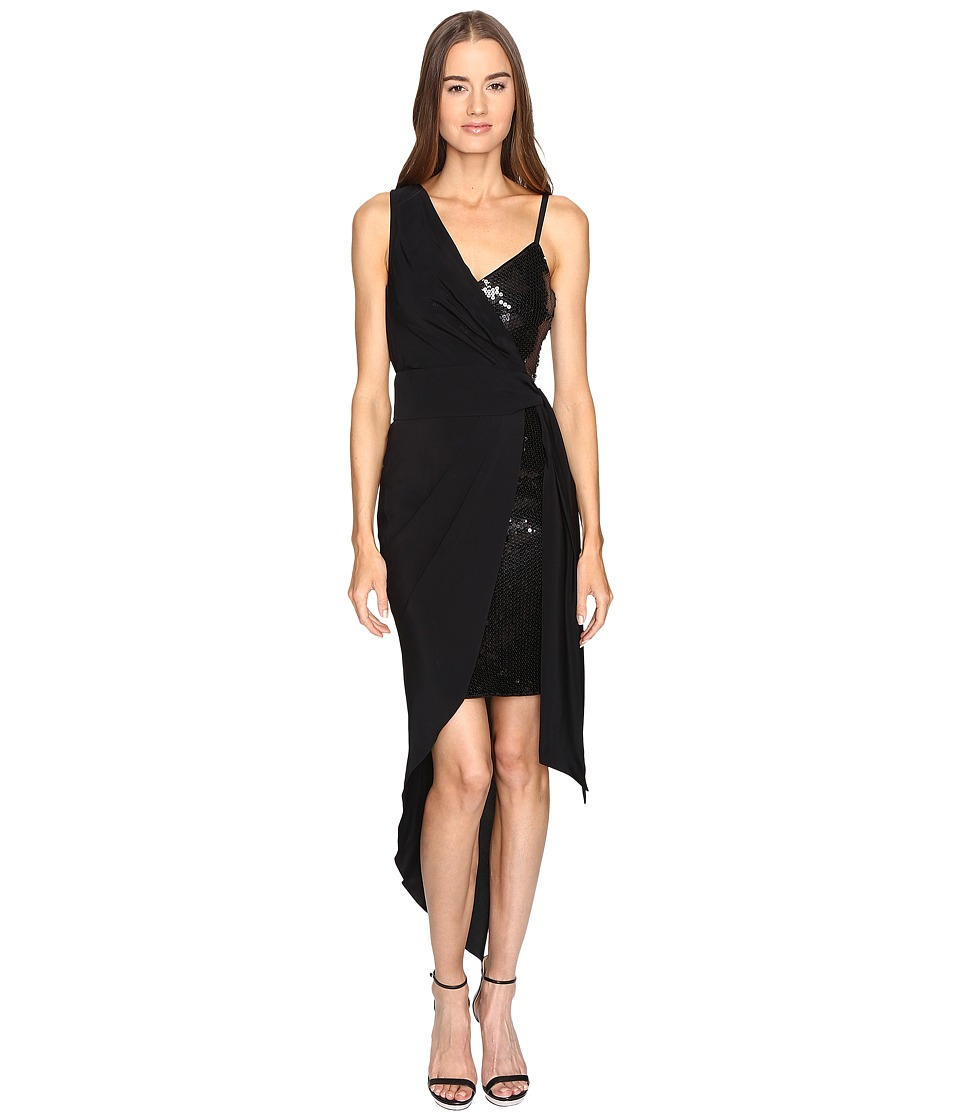 Boutique Moschino - Cocktail Dress with Sash (Black) Women's Dress