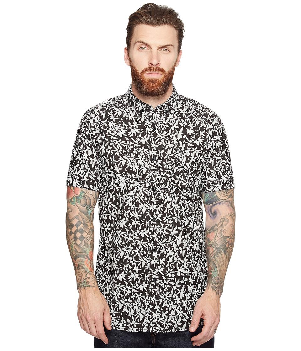 Rip Curl - Tropix Short Sleeve Shirt (Black) Men's Short Sleeve Pullover