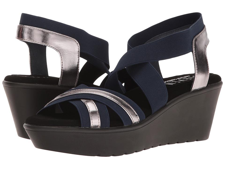 Steven - Natural Comfort - Bila (Navy Multi) Women's Wedge Shoes