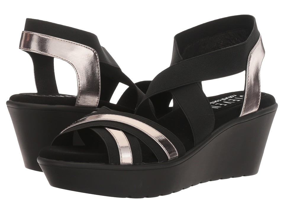 Steven - Natural Comfort - Bila (Black Multi) Women's Wedge Shoes