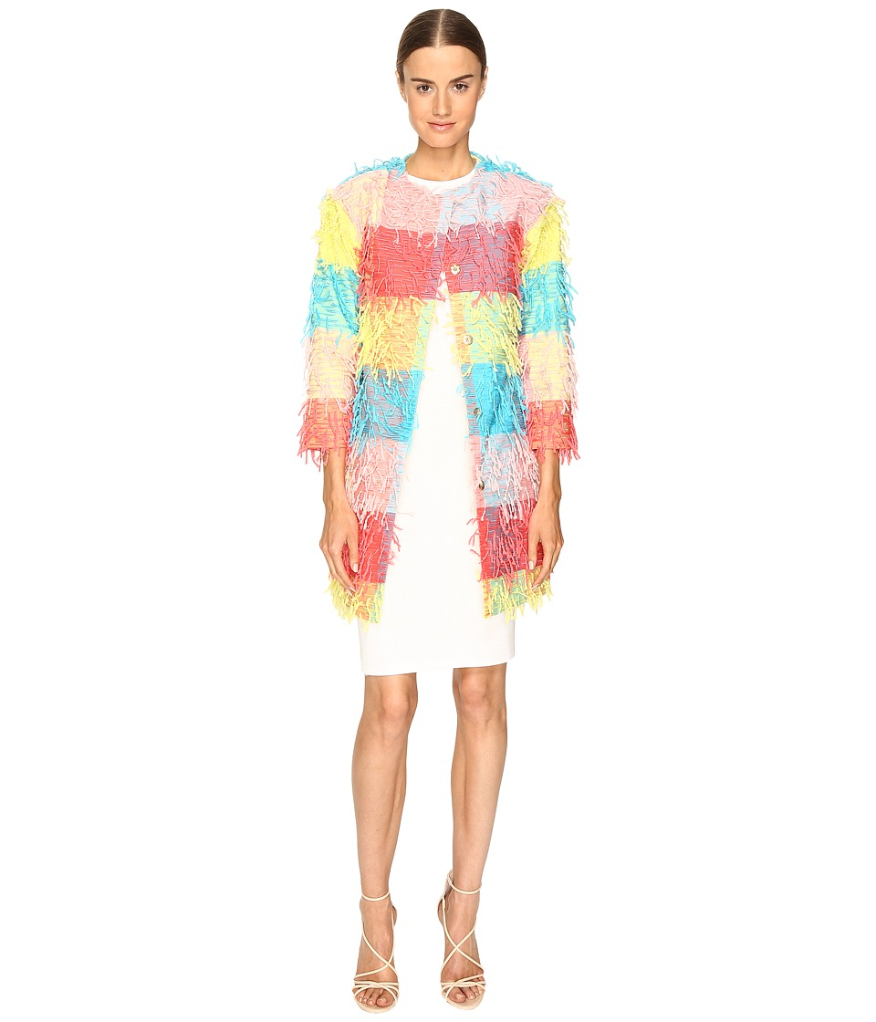 Boutique Moschino - Confetti Cropped Coat (Multi) Women's Coat