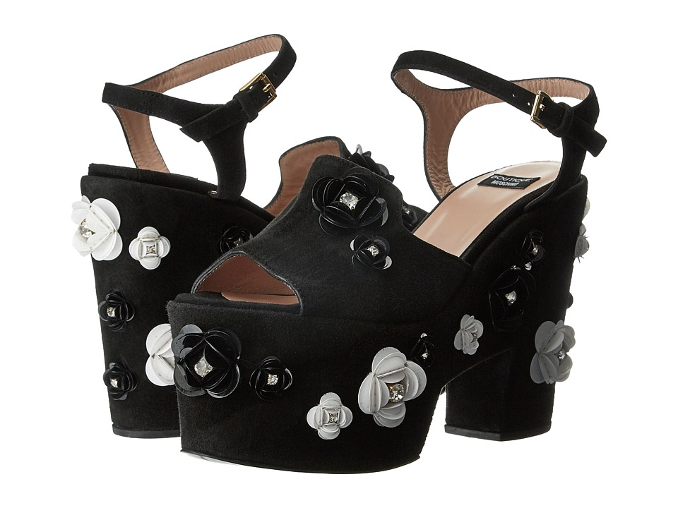 Boutique Moschino - Embellished Platform Sandal (Black) Women's Sandals