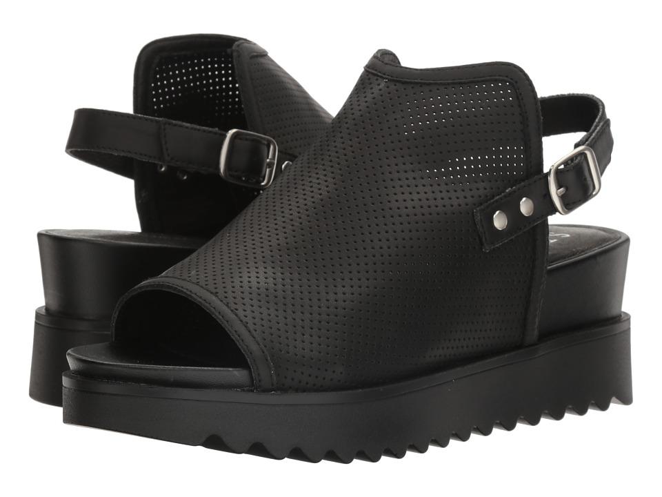 Steven - Natural Comfort - Kandy (Black Leather) Women's Shoes