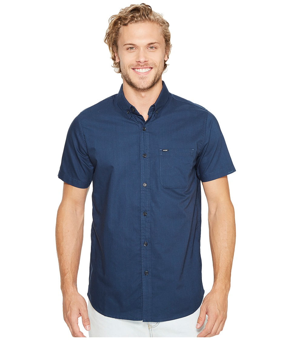 Rip Curl - Ourtime Short Sleeve Shirt (Navy) Men's Clothing