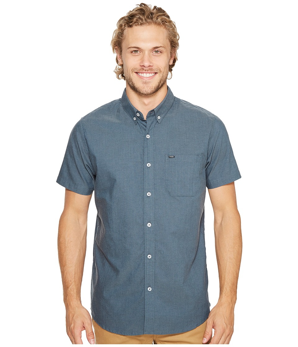 Rip Curl - Ourtime Short Sleeve Shirt (Slate Blue 1) Men's Clothing