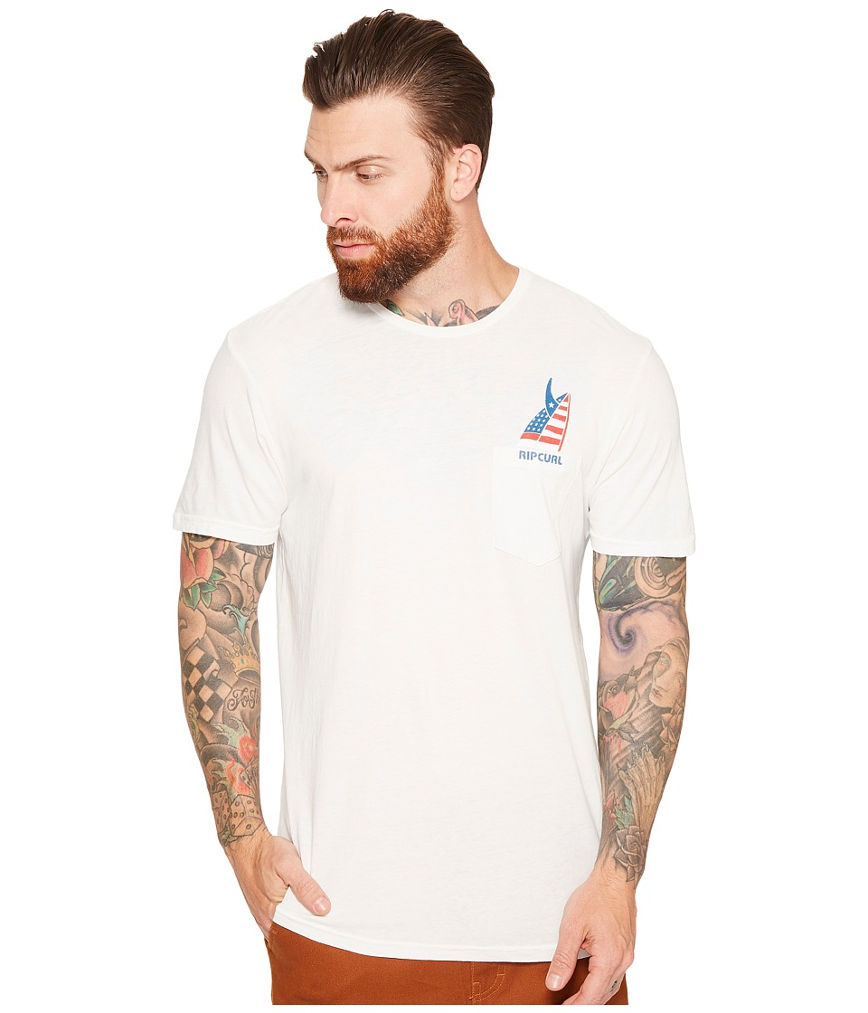 Rip Curl - Pocket Quiver Custom Tee (Off-White) Men's T Shirt