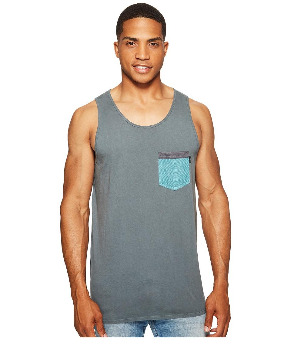 Rip Curl - Staple Pocket Custom Tank Top (Teal) Men's Sleeveless