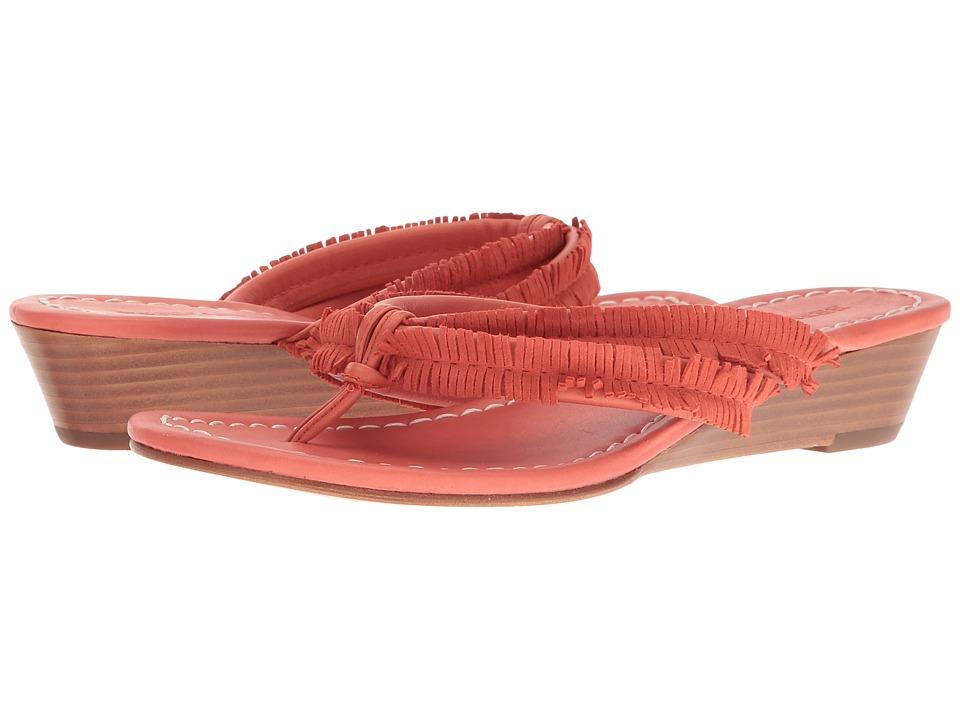 Bernardo - Miami Fringe Wedge (Salmon) Women's Wedge Shoes