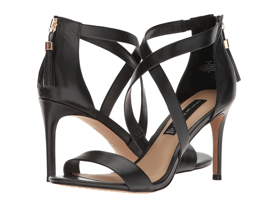 Steven Nahlah (Black Leather) High Heels