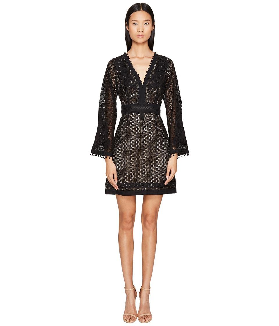 The Kooples Robe Avec Broderies Decolete + Bas Robe + Manche Dress (Black) Women