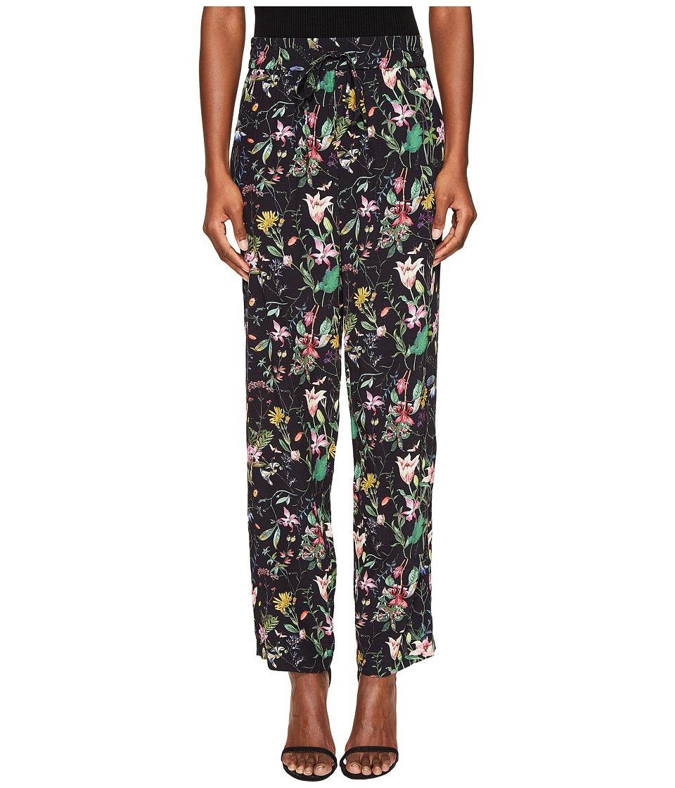 The Kooples - Pantalon En Viscose Imprime Folklo Pants (Black) Women's Casual Pants