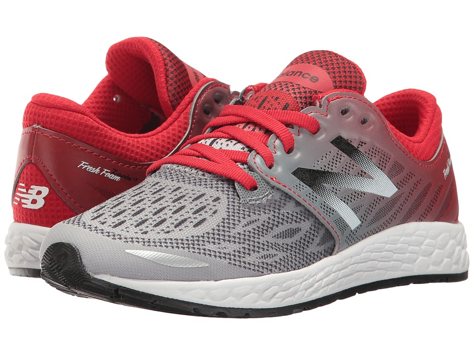 New Balance Kids - Fresh Foam Zante (Little Kid) (Grey/Red) Boy's Shoes