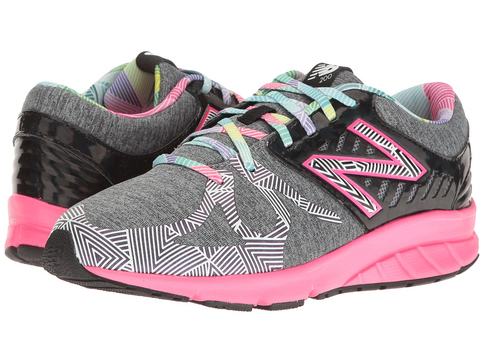 New Balance Kids - Electric Rainbow 200 (Big Kid) (Black/Multi) Girl's Shoes