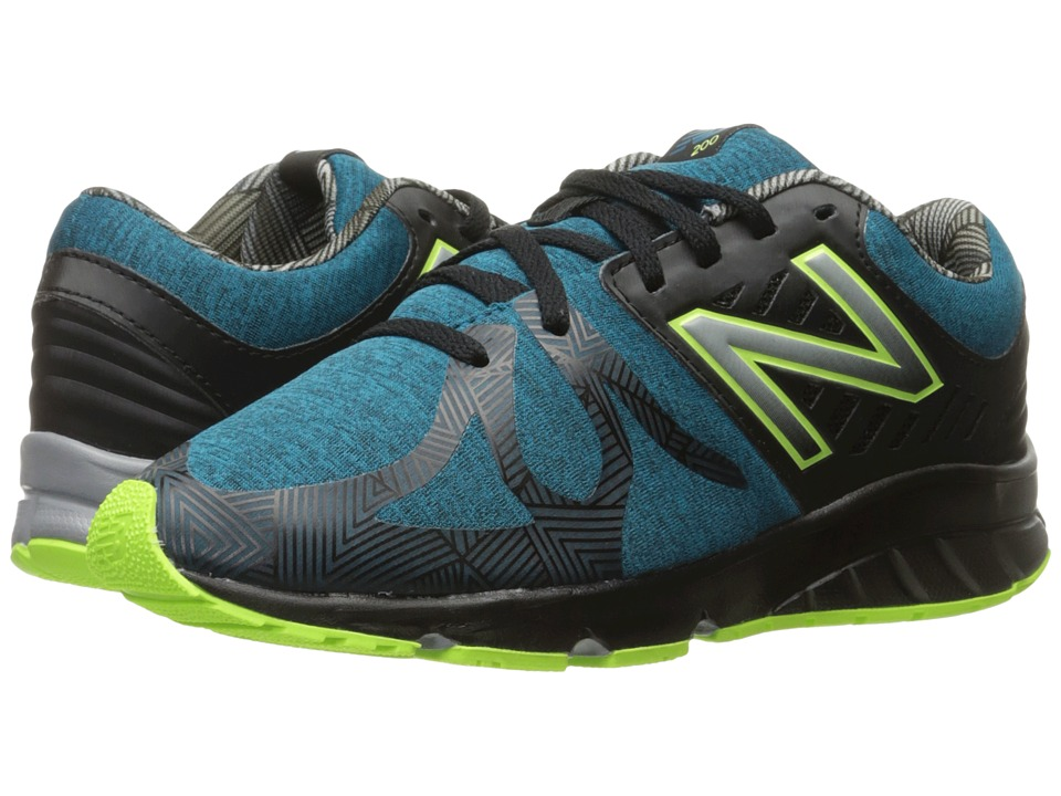 New Balance Kids - Electric Rainbow 200 (Big Kid) (Blue/Black) Boy's Shoes