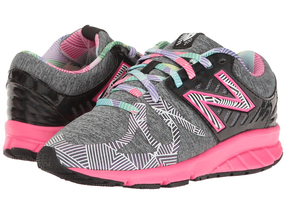 New Balance Kids - Electric Rainbow 200 (Little Kid) (Black/Multi) Girl's Shoes