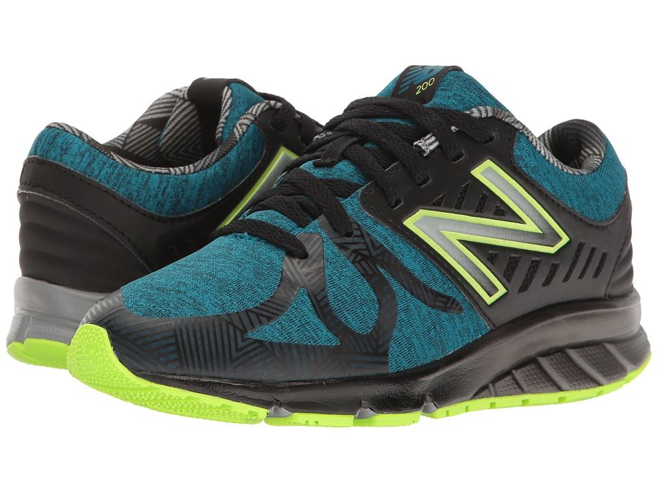 New Balance Kids - Electric Rainbow 200 (Little Kid) (Blue/Black) Boy's Shoes