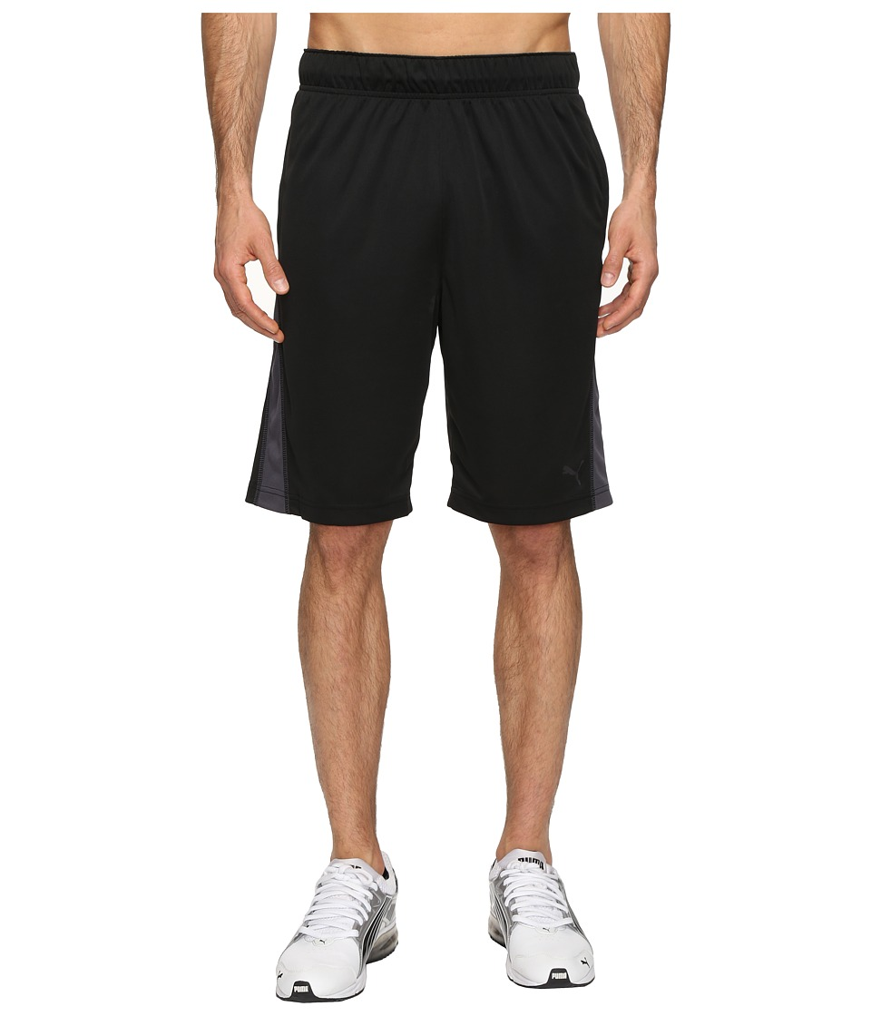 PUMA - Backcourt Shorts (Black/Asphalt) Men's Shorts