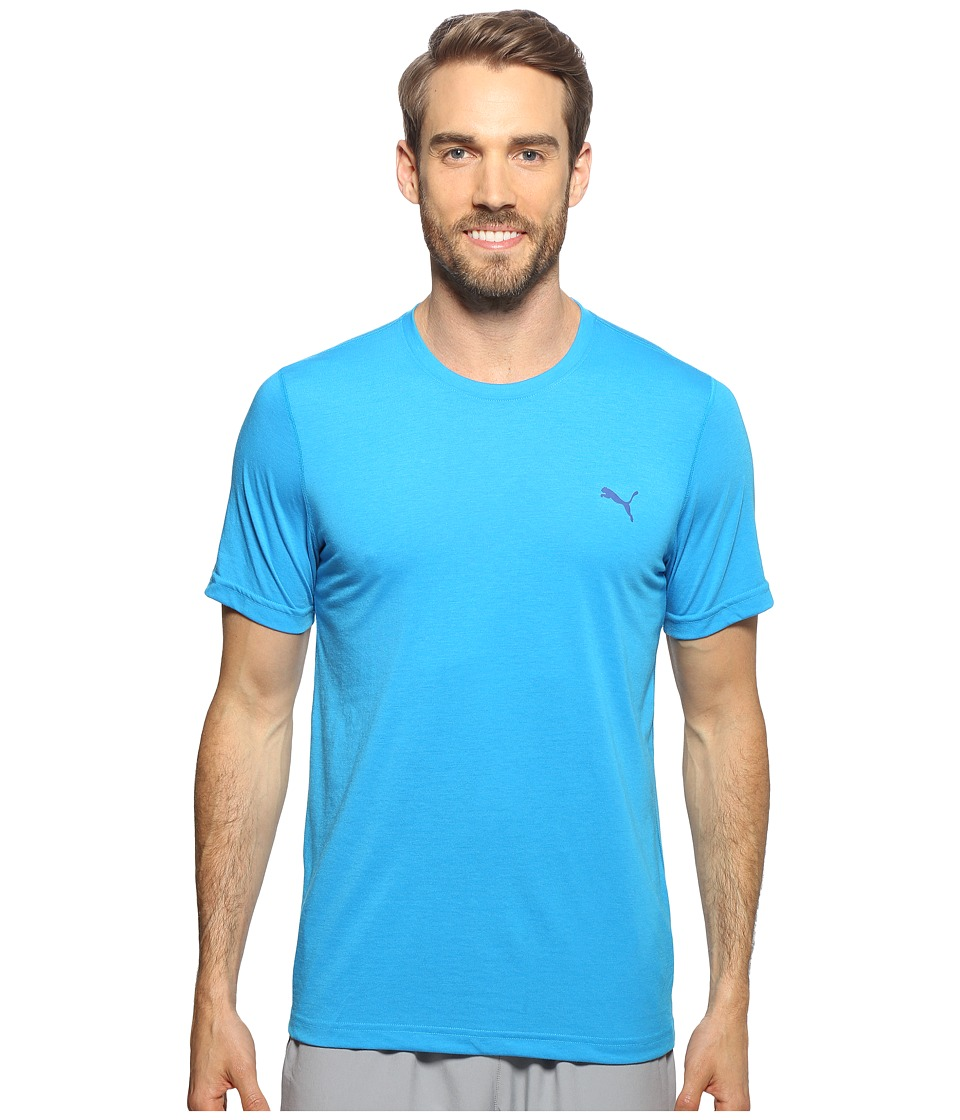 PUMA - Essential Short Sleeve Crew (Cloisonne) Men's Short Sleeve Pullover
