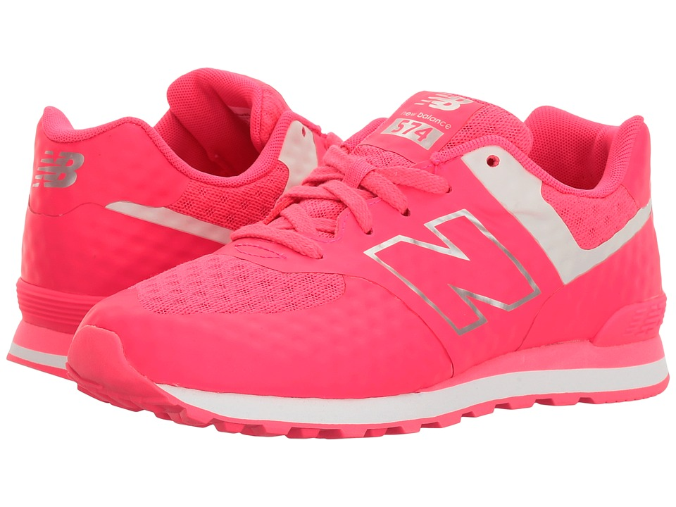 New Balance Kids - Breathe 574 (Big Kid) (Pink/Grey) Girl's Shoes