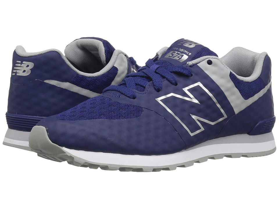 New Balance Kids - 574 Breathe (Big Kid) (Blue/Grey) Boy's Shoes